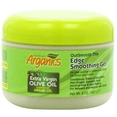 Arganics Extra Virgin Olive Oil Enriched With Argan Oil Edge Smoothing Gel 8 Ounce