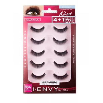 Kiss i.ENVY Premium Human Hair Juicy Multi-Pack 12XS 4+1 Free Pair KPEM12XS