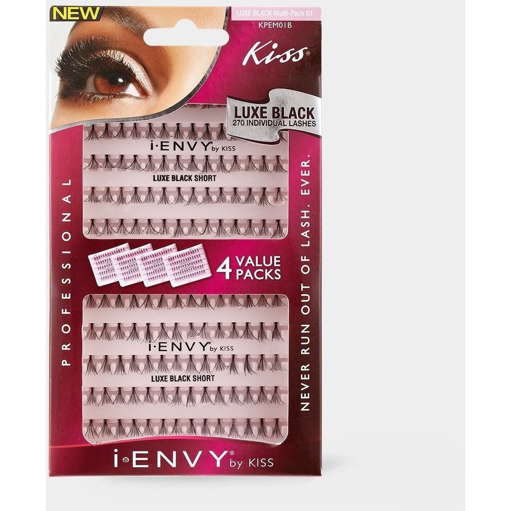Kiss i.ENVY Luxe Black Short 4 Value Multi-Pack 01 KPEM01B