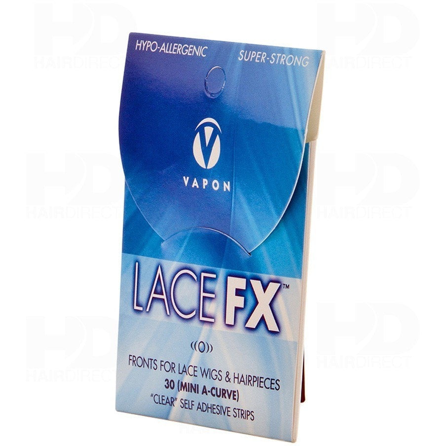 Lace FX Fronts For Lace Wigs & Hairpieces 30 ( Mini A-Curve) Clear'' Self Adhesive Strips
