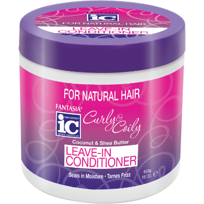Fantasia IC Curly & Coily Coconut & Shea Butter Leave-In Conditioner 16 Ounce