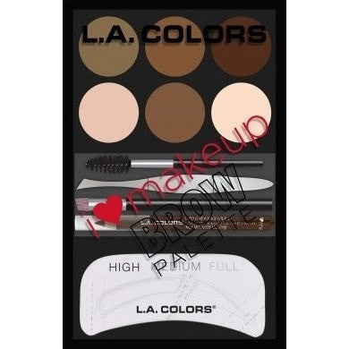 LA Colors I Love Makeup Brow Palette Light-Medium
