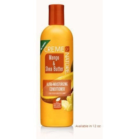 Creme Of Nature Mango & Shea Butter Ultra-Moisturizing Conditioner For Dehydrated Hair 12 Ounce