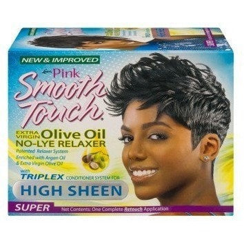 Pink Smooth Touch Relaxer High Sheen Super One Retouch Application