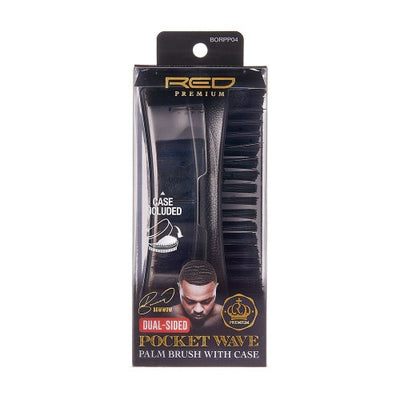 Pocket Wave Club Brush With Case Dual-Sided