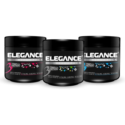 Elegance 3 Triple Action Gel Strong Shine Hold 8.75 Ounce