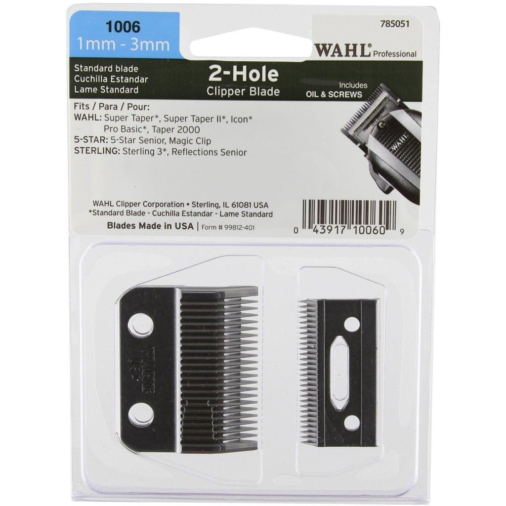 Wahl 2-Hole 1mm - 3mm Clipper Blade Set 1006