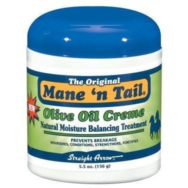 Mane n Tail Olive Oil Creme Natural Moisture Balancing Treatment 5.5 Ounce