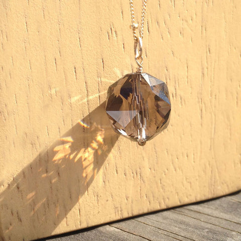 Smoky Quartz Ball Necklace