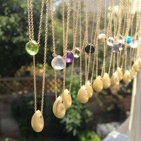 Gemstone + Nugget Necklaces - Lolabean