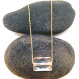 Rectangular Crystal Necklace - Lolabean