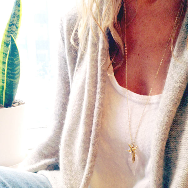Long Leaf Necklace - Lolabean