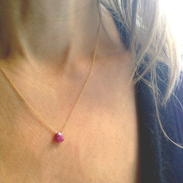 14k Birthstone Necklaces - Lolabean