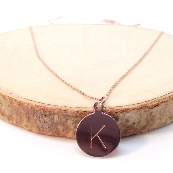 Rose Gold Initial Necklace - Lolabean