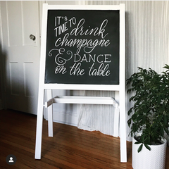 chalkboard party sign