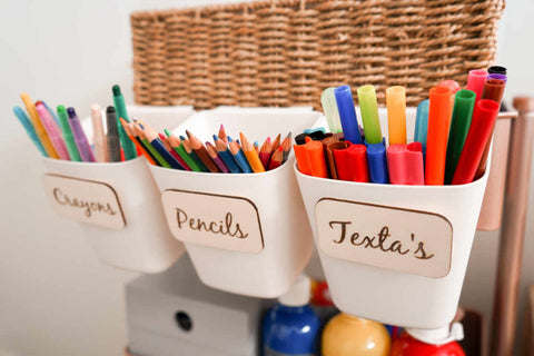 wooden toy box labels playroom organisation labels