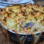 mash and vegetable pie