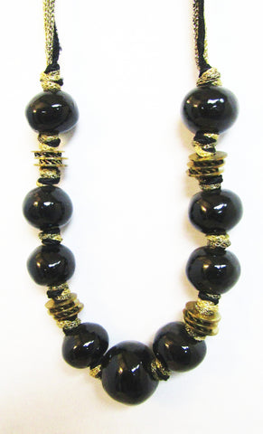 Made in Greece Black Ceramic Necklace