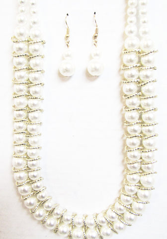 Double Strand Pearl Set