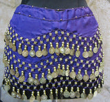 Coin Sash - Belly Dancing 3-Line Hip Scarf