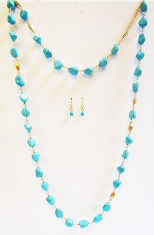 Tantalizing Turquoise Necklace Set