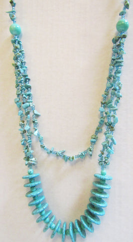 Tasteful Turquoise Pullover Necklace
