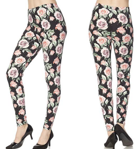 Leggings-Floral Pinks