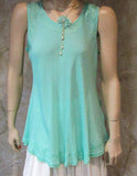 Bias Solid Mint Sleeveless Top