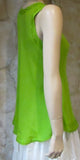 Bias Solid Lime Sleeveless Top