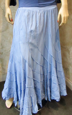 "Light Blue ""Banana Cut"" Swirl Skirt"