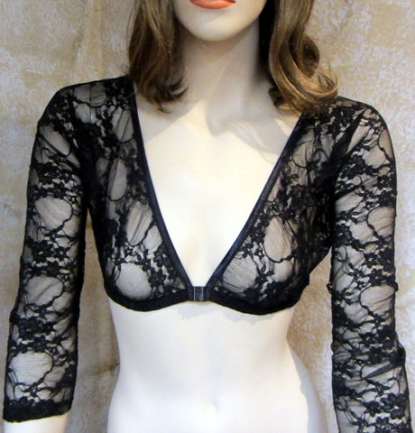 Sleevey Wonders - 3/4 Sleeve Black Lace