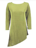 Slinky Tunic with Asymmetric Hem