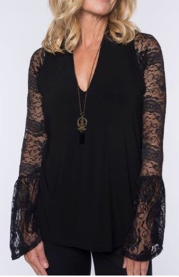 Sleevey Wonders - Long Bell Sleeve Black Lace