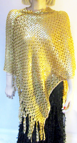 Gold Sequin Poncho
