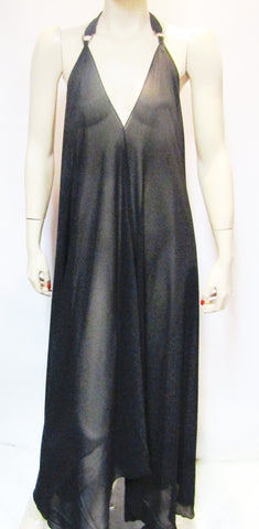 Sheer Long Halter Style Dress in Gorgeous Solids