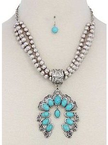 Turquoise Chunky 3-strand Necklace
