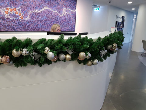 Christmas garland hire - decorated and installed. Melbourne and surrounds.