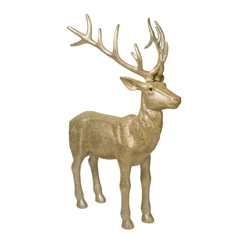 The Glitter Gold Reindeer Pair will stand beside your Decorated Christmas Tree adding extra sparkle and the perfect finishing touch!