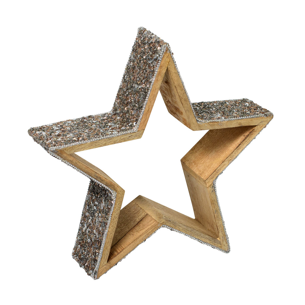 Hire a Glitter Star for tabletop decoration. Coordinates with our decorated Christmas trees.