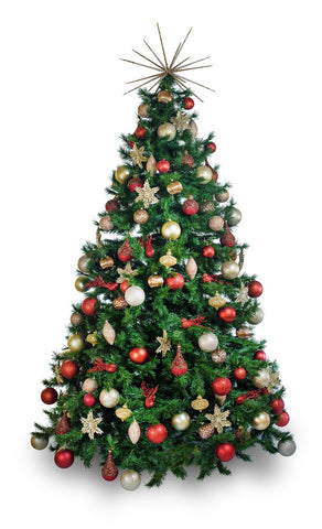 'Ruby' artificial decorated Christmas Tree - Hire