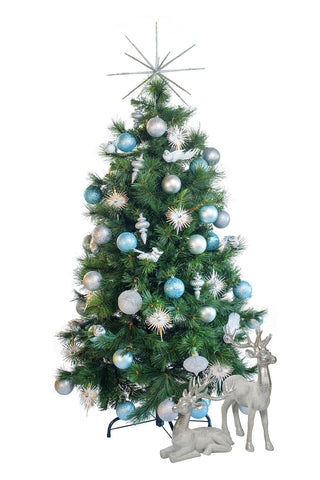 Tabletop 'Winter Wonderland' artificial decorated Christmas Tree - Hire
