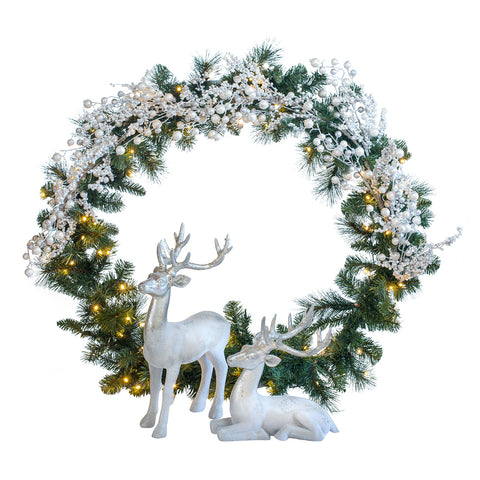 Hire a Winter Wonderland Christmas scene for tabletops, receptions desks. Coordinates beautifully with professionally decorated Christmas trees.