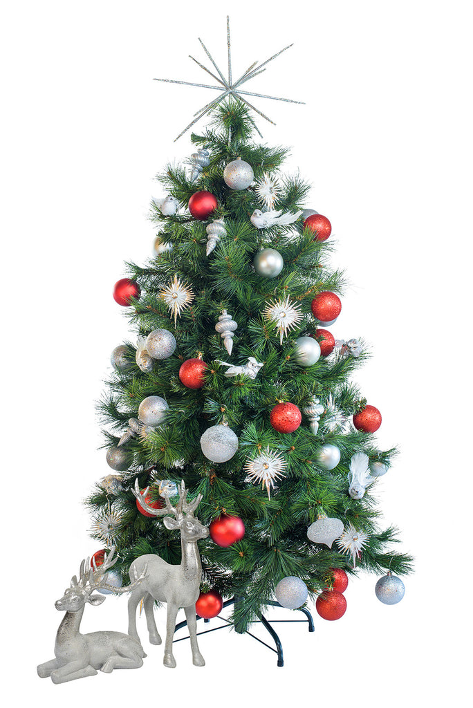 Hire a tabletop Noel decorated Christmas tree for tabletops, receptions desks. Coordinates beautifully with professionally decorated Christmas trees.