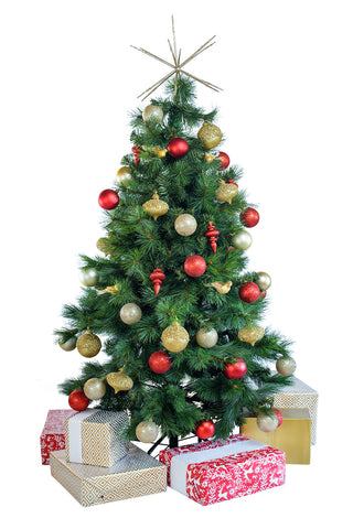 Tabletop 'Traditional' artificial decorated Christmas Tree - Hire