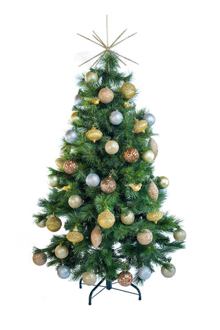 Hire a tabletop Traditional decorated Christmas tree for tabletops, receptions desks. Coordinates beautifully with professionally decorated Christmas trees.