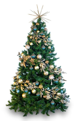 'Celeste' LIMITED EDITION artificial decorated Christmas Tree - Hire
