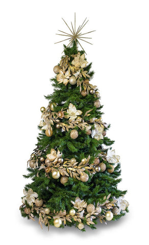 'Gold on Gold' LIMITED EDITION artificial decorated Christmas Tree - Hire