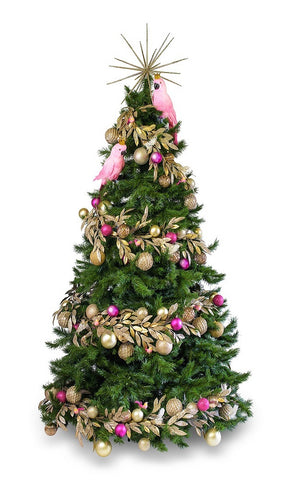 'Golden Galah' LIMITED EDITION artificial decorated Christmas Tree - Hire