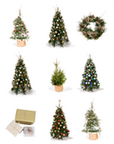 Real Christmas trees, artificial Christmas trees. Hire Melbourne.