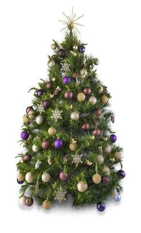 'Woodland' real decorated Christmas Tree - Hire